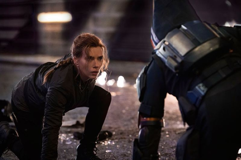 USA. This image released by Marvel Studios shows Scarlett Johansson in a scene from