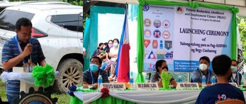 NEGROS. DAR-Negros Occidental I takes part in a poverty reduction initiative in E.B. Magalona town on Wednesday, July 14, 2021. (Contributed Photo)