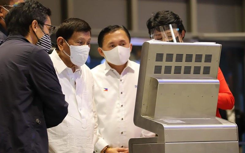 PAMPANGA. President Rodrigo Roa Duterte on Saturday, July 17, led the inspection of the newly completed 110,000-square meter Clark International Airport New Passenger Terminal Building, which now awaits the green light to operate from aviation regulators. (Contributed photo)