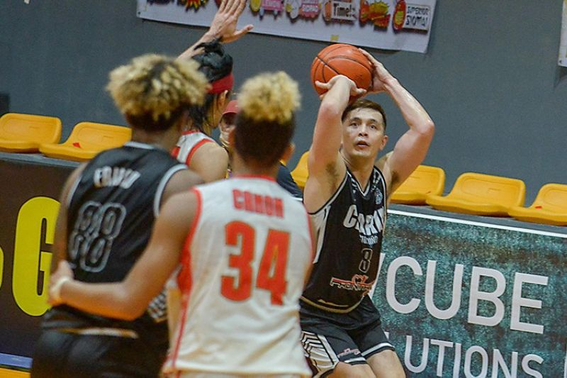 Clarin guard John Wilson completed the triple-double with just 24 seconds remaining in the game against Iligan. (Chooks-to-Go Pilipinas)