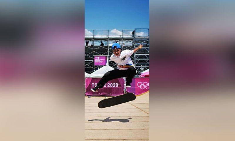OLYMPICS. Nagpraktis si Cebuana skateboarder Margielyn Didal sa Ariake Urban Sports Park sa Japan, ang mismong pahigayunan sa skateboard competition sa Tokyo Olympics nga sugdan karong adlawa. (Hulagway gikan sa Facebook account ni Didal)