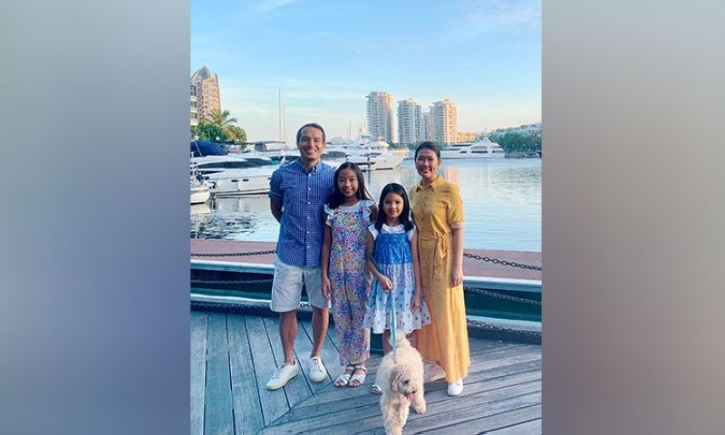 'SYS' THE DAY! Dabawenyos Alfred Sy Jr. and Architect Christine Amy Buyco-Sy have been living in Singapore for almost two decades now. Their two daughters Ava Christiane and Alessandra Cate or Ally were both born in the Lion City. (Contributed photo)