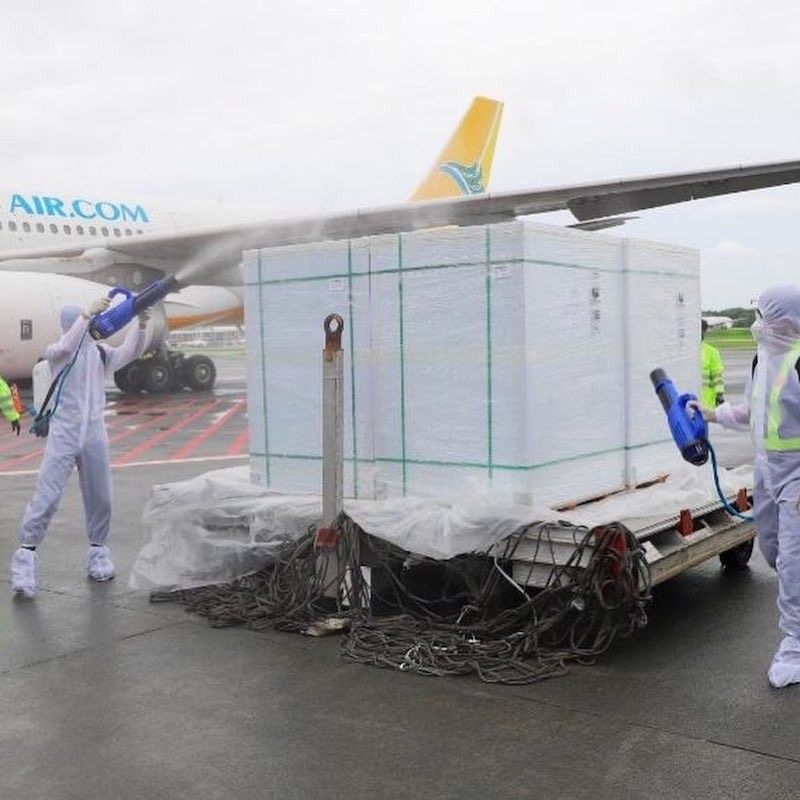 MANILA. Another shipment of 1.5 million doses of the Sinovac vaccine against Covid-19 arrives in Manila on July 22, 2021. (NTF Against Covid-19)