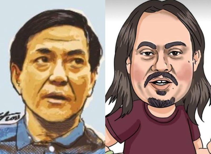 CEBU. Sketches of  Cebu City Vice Mayor Michael Rama and former city councilor Jose Daluz III. (SunStar Cebu)