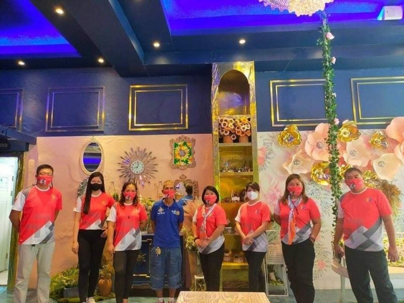CIVIC PROGRAM. Officers of the Rotary Club of Angeles Skytown led by their president, Jay Bondoc, (extreme left), past president Danica Zita, Rotarian Sharon de Vera, Charter President Rommel Jose Suarez, immediate past president Edna Eufemio, past president Carina David, Assistant Governor Rolisa Carreon, and past assistant governor Jong Villanueva. (Contributed photo)