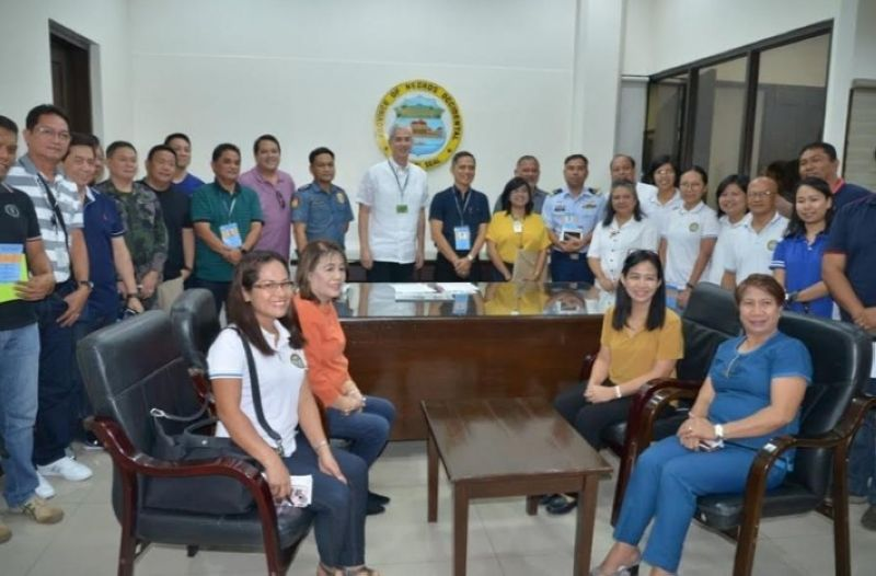 Contributed Photo. Negros Occidental Governor and Provincial ASF Task Force Chair Eugenio Jose Lacson and Provincial Veterinarian and co-chair Renante Decena with members of the task force during their first meeting in July 2019.
