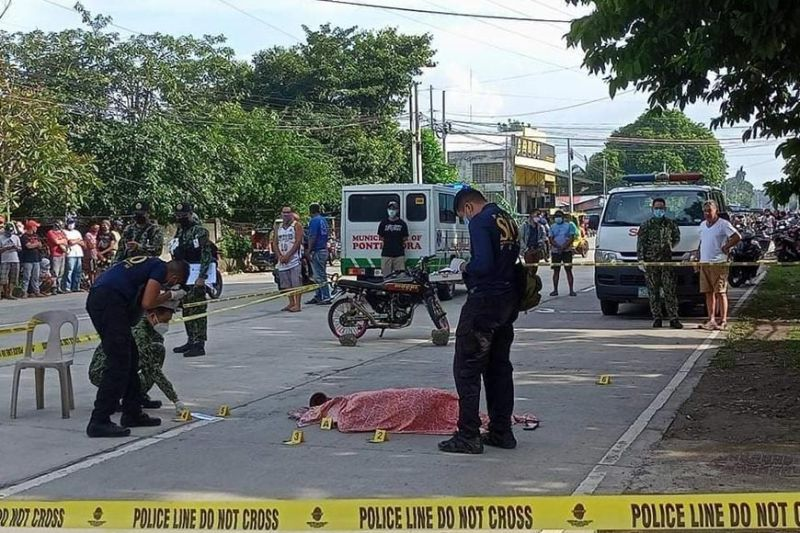 PONTEVEDRA. A 48-year-old mother was shot dead outside her sari-sari store in Purok Perez, Barangay 2-Poblacion, Pontevedra on July 24 by an unidentified motorcycle-riding suspect. (Contributed photo)