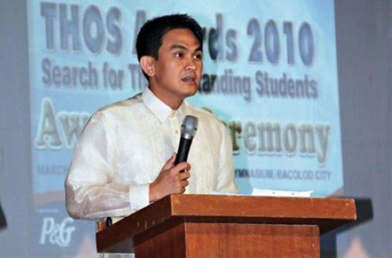 BACOLOD. Bacolod City Councilor Wilson Gamboa Jr. (File photo from Gamboa's Facebook account)