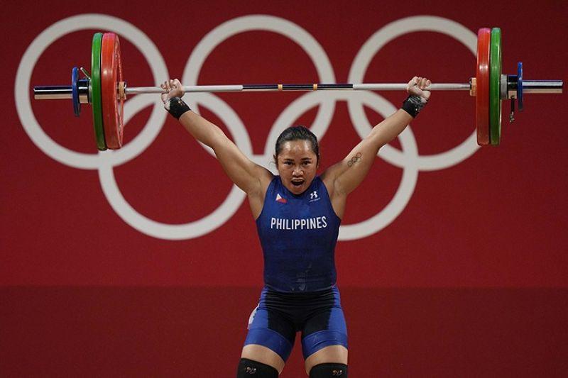 JAPAN. First Filipino Olympic gold medalist Hidilyn Diaz. (AP)