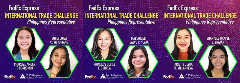 Six Filipino students will be competing against other winners from across the Asia-Pacific in the upcoming FedEx/JA ITC Regional Finals. (Contributed photo)