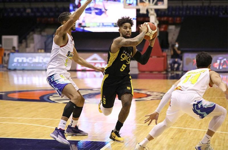 MANILA. TNT rookie Mikey Williams finally made his season debut for the Tropang Giga in the game versus Rain or Shine. (PBA)