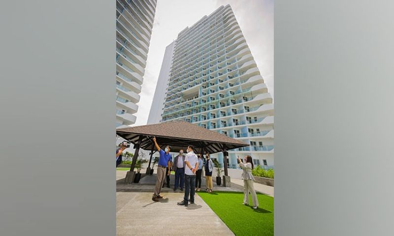 ANOTHER LANDMARK. Mayor Edwin Santiago, together with City Building Officer Engineer Efren De Leon and City Engineer Anele David, inspected on Tuesday, July 27, 2021, the towers of Azure North, a future high-rise landmark along Jose Abad Santos Avenue in the City of San Fernando. (City of San Fernando Information Office)