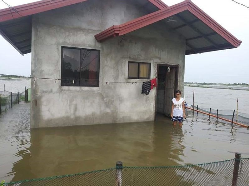 ISLAND HOUSE. A house in Barangay Sagrada, Masantol seems to have become like an island as it is surrounded by water that overflowed from the Pampanga River. (Contributed photo)