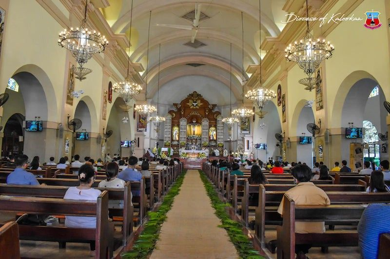 MANILA. Masses will be held only virtually in Metro Manila, when the region goes under lockdown again from August 6 to 20, 2021. (Kalookan Diocese Facebook)