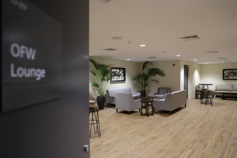 LOUNGE FOR OFWs. A peek at the OFW lounge at Clark airport. (Contributed photo)