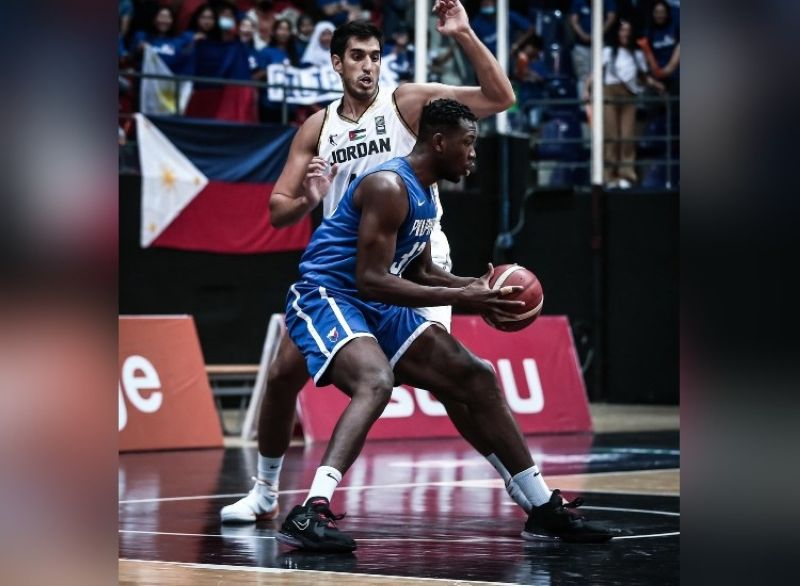 AMMAN. Naturalized player Ange Kouame was the Gilas' leading scorer with 20 points. (Jordan Basketball Federation)