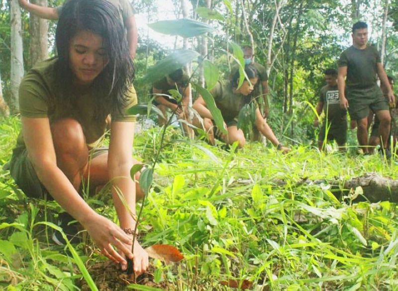 ZAMBOANGA. Troops of the Army's 44th Infantry Battalion (44IB) conduct a tree growing activity Saturday, July 31, at their headquarters in Imelda, Zamboanga Sibugay as they join the culmination in the observance of the National Disaster Resilience month of July. A photo handout shows the 44IB troops planting 57 assorted native trees during the activity. (SunStar Zamboanga)