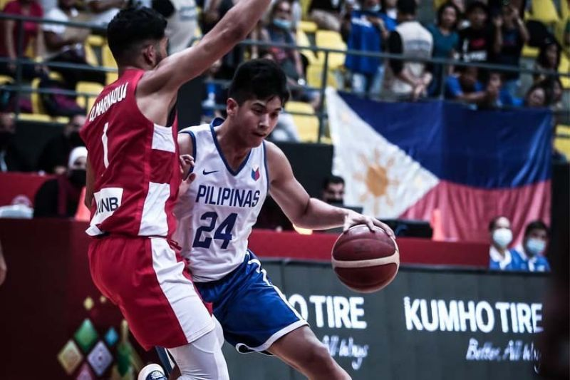 Cebuano forward Carl Tamayo led the Gilas with 14 points in their loss to Tunisia.  (Jordan Basketball Federation)