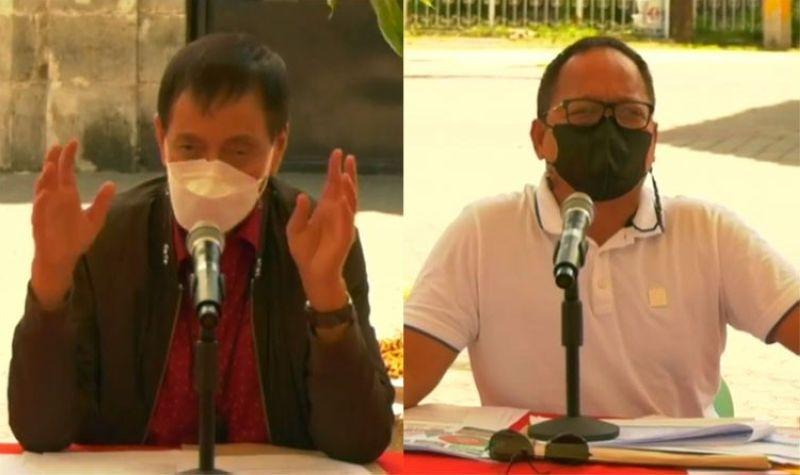 CEBU. Cebu City Vice Mayor Mike Rama (left) and Emergency Operations Center chief Councilor Joel Garganera. (Screenshot from video posted on Cebu City Vice Mayor Office's Facebook page)