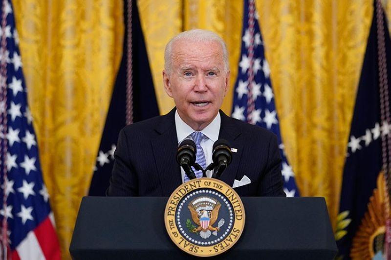 USA. President Joe Biden speaks from the East Room of the White House in Washington, Thursday, July 29, 2021. (AP)