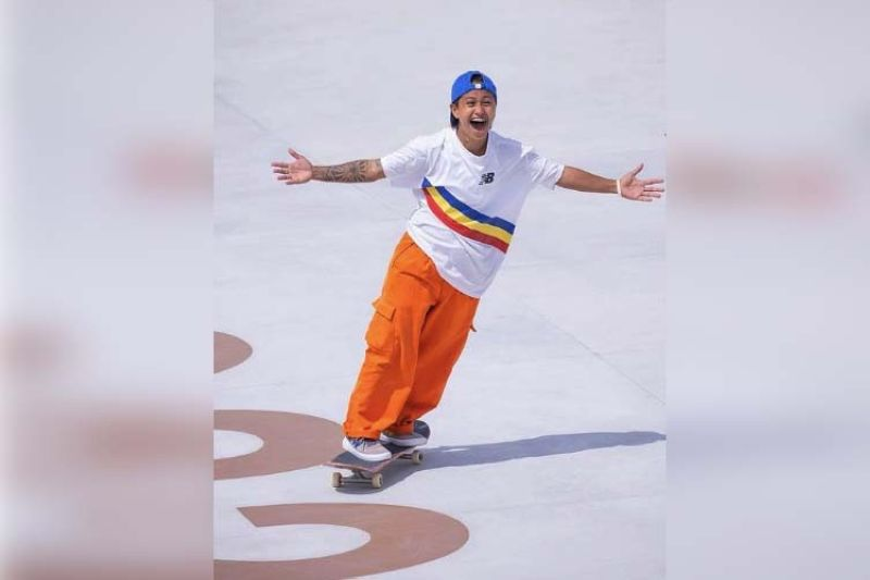 """Cebuana skateboarding star Margielyn Didal relayed that performing in the Olympics was an """"epic experience."""" (Margielyn Didal Facebook page)"""