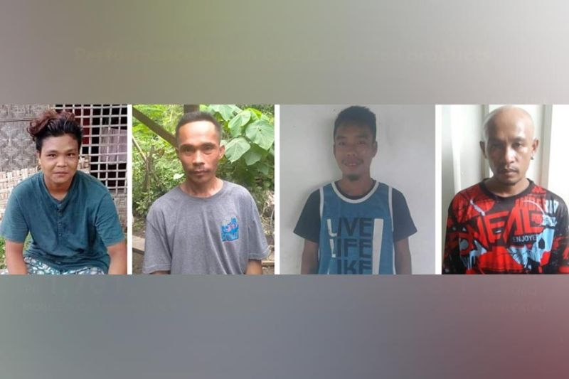 NEGROS. Four NPA rebels surrender to the Philippine Army in Negros Oriental, Saturday. (Contributed photo)