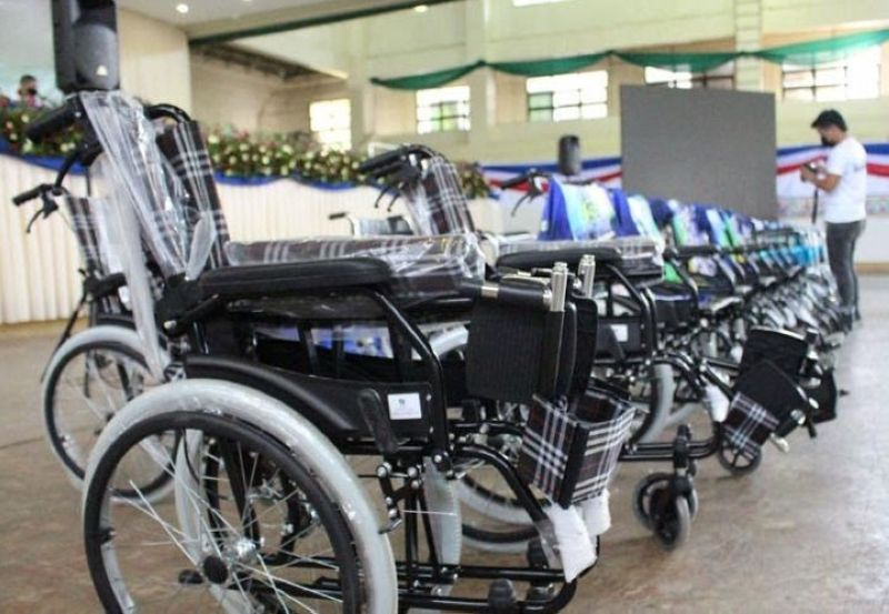 ZAMBOANGA. The Ministries of Health and Social Services and Development distribute assistive mobility devices to over 300 indigent persons with disabilities (PWDs) marking the culmination of the 43rd National Disability and Rehabilitation Week in the Bangsamoro Autonomous Region in Muslim Mindanao. A photo handout shows some of the wheelchairs that were given to the PWDs. (SunStar Zamboanga)