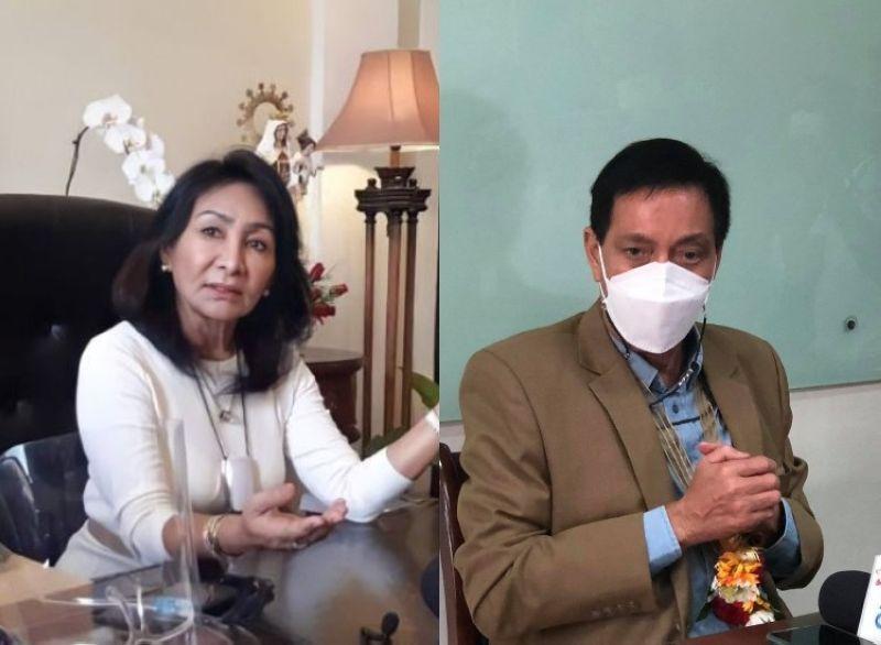 CEBU. Cebu Governor Gwendolyn Garcia and Cebu City acting Mayor Michael Rama. (SunStar photos)
