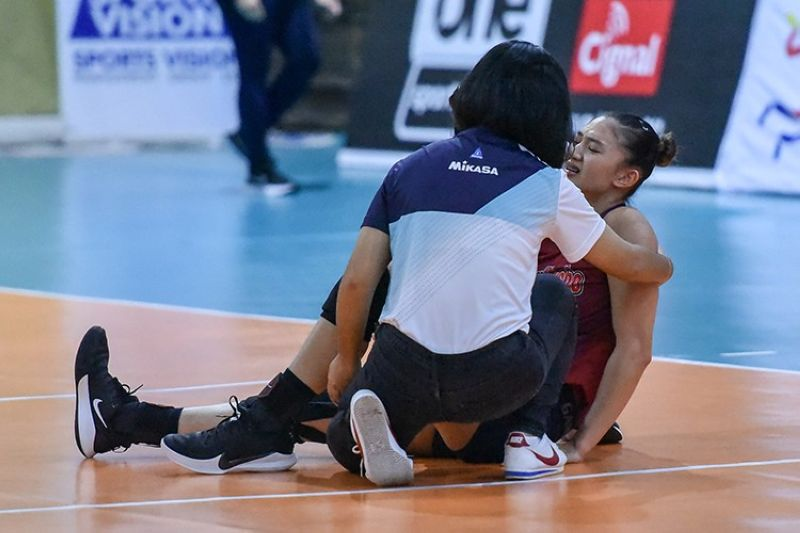 Choco Mucho middle blocker Maddie Madayag has suffered an ACL tear on her left knee. (PVL)