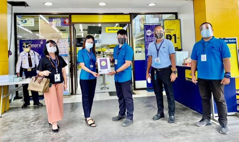 SAFETY SEAL. Officials from a business establishment in Central Luzon show their safety seal. (Contributed photo)