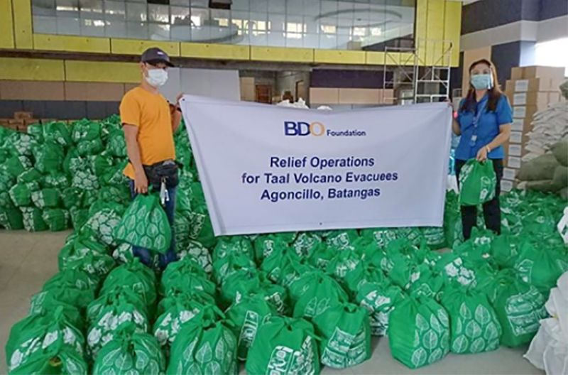 RELIEF OPERATIONS. BDO Foundation continues to mount relief operations for underserved communities affected by disasters and the pandemic. (Contributed photo)