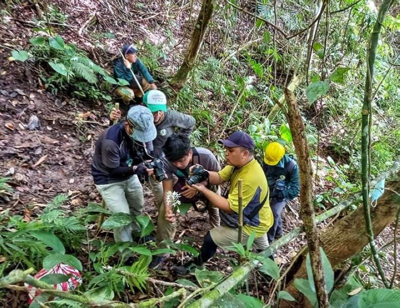 ZAMBOANGA. The Ministry of Environment, Natural Resources, and Energy in the Bangsamoro Autonomous Region in Muslim Mindanao (Menre-Barmm) has partnered with other stakeholders to assess the Sacred Mountain National Park in Marawi, Lanao del Sur. A photo handout shows a composite team climbing the National Park on August 10 to undertake the assessment. (SunStar Zamboanga)