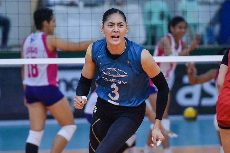 Chery Tiggo star Jaja Santiago has completed her journey to volleyball stardom.  (PVL)