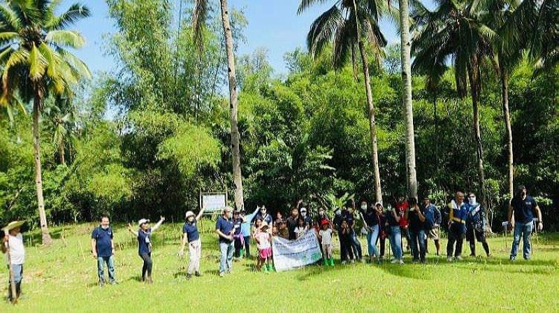 NEGROS. The Rotary Club of Bacolod holds tree planting activity in Barangay Cabatangan, Talisay City on August 15, 2021. (Contributed photo)