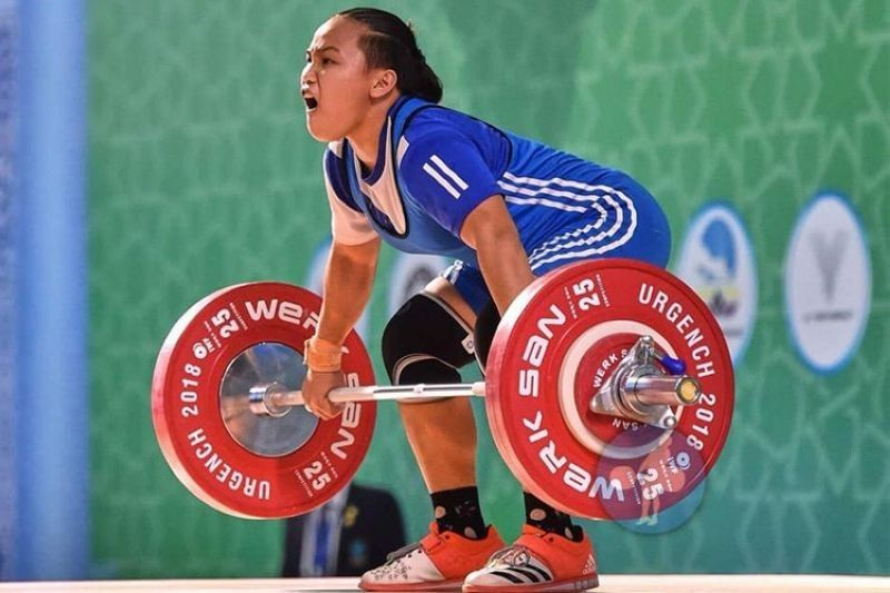 Cebuana lifter Elreen Ann Ando (Photo from Elreen Ando's Facebook)