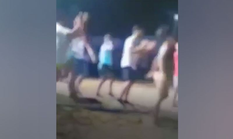 Screenshot of video on Camotes beach party