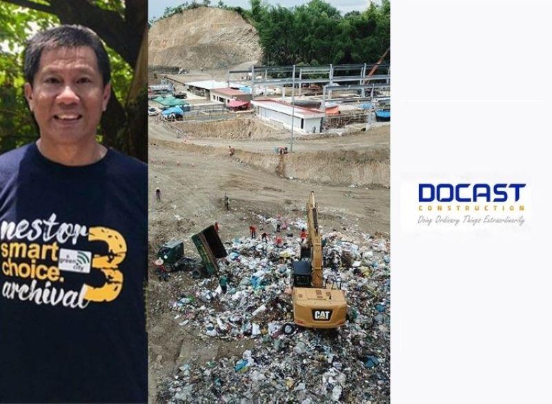 CEBU. City Councilor Nestor Archival, the Binaliw landfill and Docast Construction. (File photos)