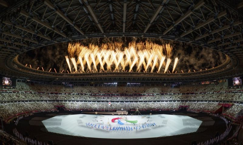 JAPAN. Fireworks are set off during the Paralympic Opening Ceremony over the Olympic Stadium for the Tokyo 2020 Paralympic Games, Tokyo, Tuesday, August 24, 2021. (AP)