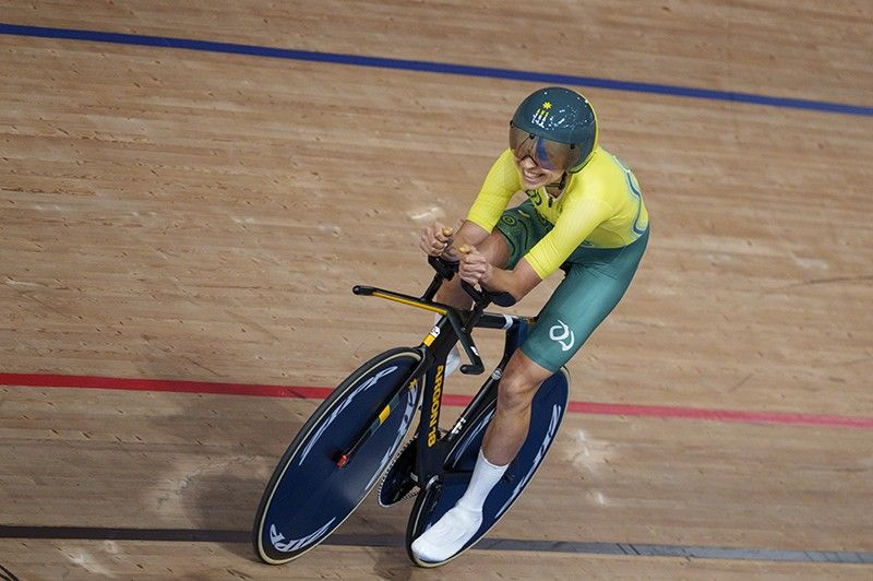 TOKYO. Australia's Paige Greco wins the Gold Medal in the Track Cycling Womens C3 3000m Individual Pursuit at the Izu Velodrome in Tokyo 2020 Paralympic Games in Tokyo, Wednesday, August 25, 2021. (AP)
