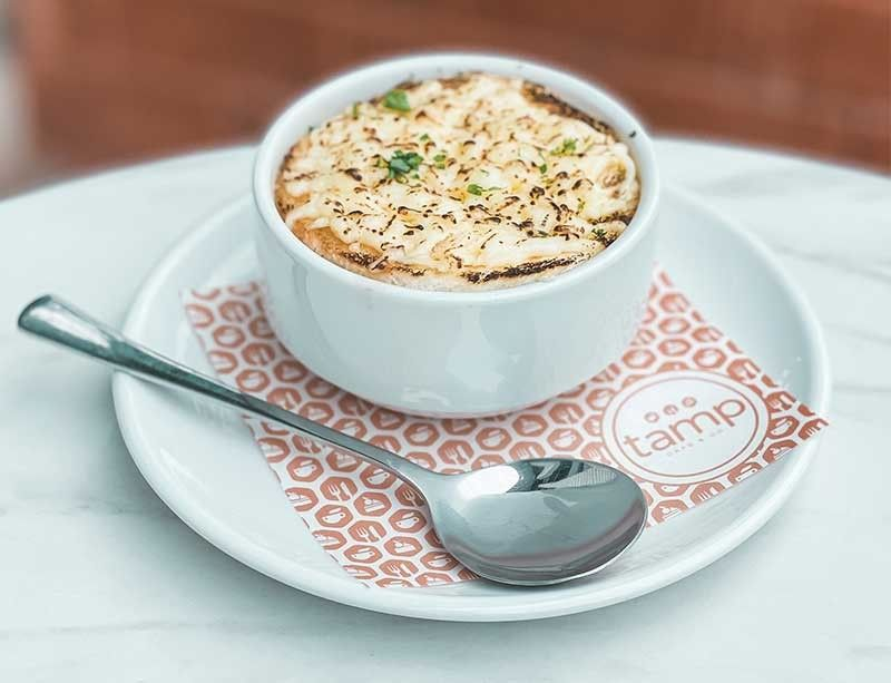 French onion soup from Tamp Cafe and Co.