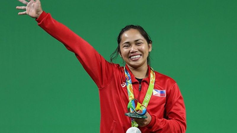 The weightlifting gym inside the Rizal Memorial Sports Complex will be named after Olympic gold medal winner, Hidilyn Diaz.  (Olympics.com)