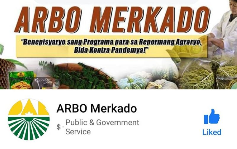 NEGROS. The online market portal created by the Department of Agrarian Reform-Western Visayas to help agrarian reform beneficiaries organizations promote and market their products amid the prevailing Covid-19 pandemic. (Contributed Photo)