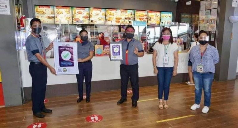 SAFETY SEAL. Bacolod City issues certificates of Safety Seal to 7 more corporate entities on Friday, August 27. (Contributed photo)