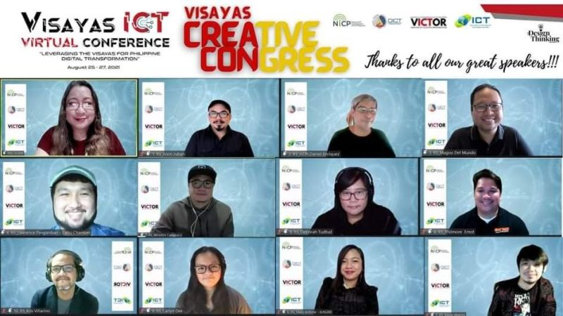 NEGROS. Some of the participants of the second day of the Visayas Creative Congress as part of this year's Visayas ICT Cluster (Victor) Conference last week. (Contributed Photo)