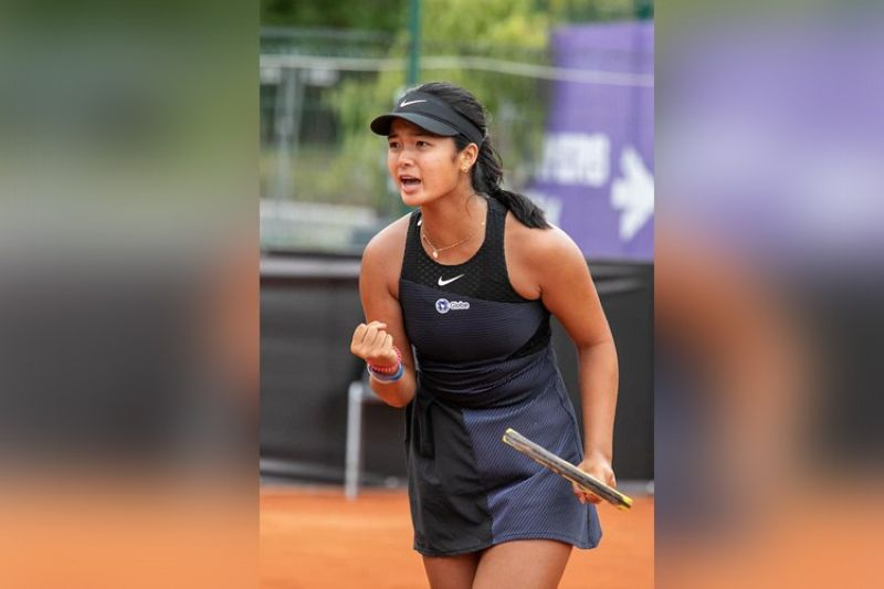Filipina tennis star Alex Eala has been seeded no. 2 in the 2021 US Open Juniors tennis championships. (Alex Eala Facebook page)