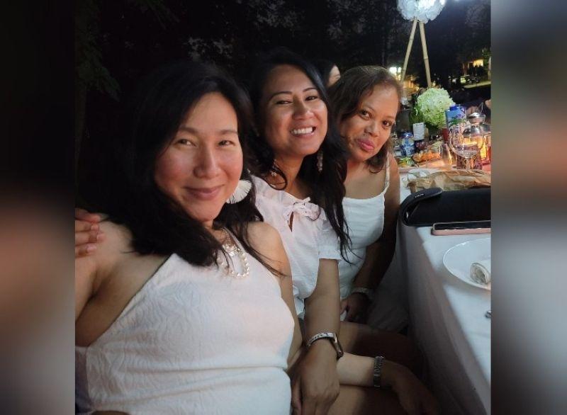 DINER EN BLANC. Heidi Ng, Natalie Perreira, Claudette Buyser. (Contributed photo)