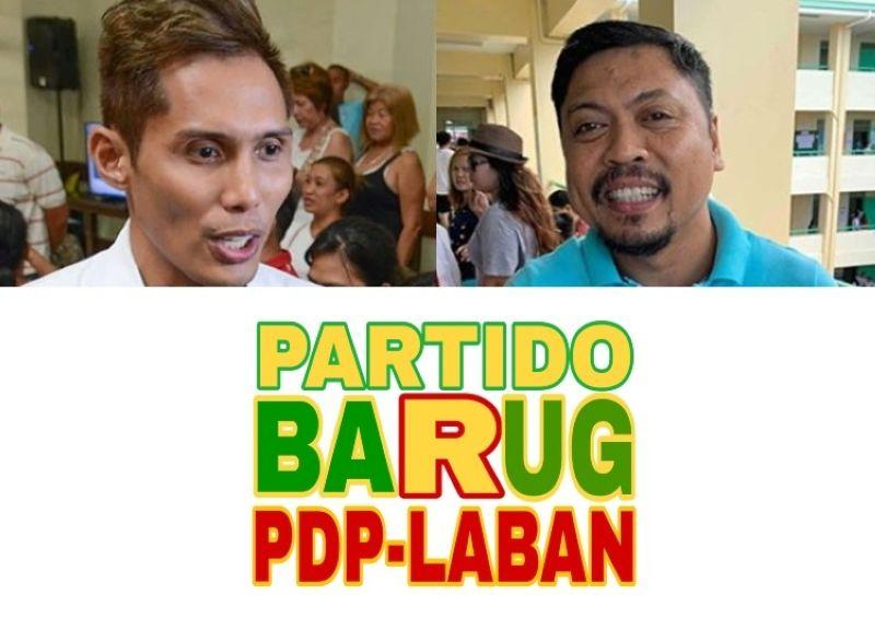 CEBU. City Councilors Dondon Hontiveros and Philip Zafra and Partido Barug PDP-Laban icon. (File photos)