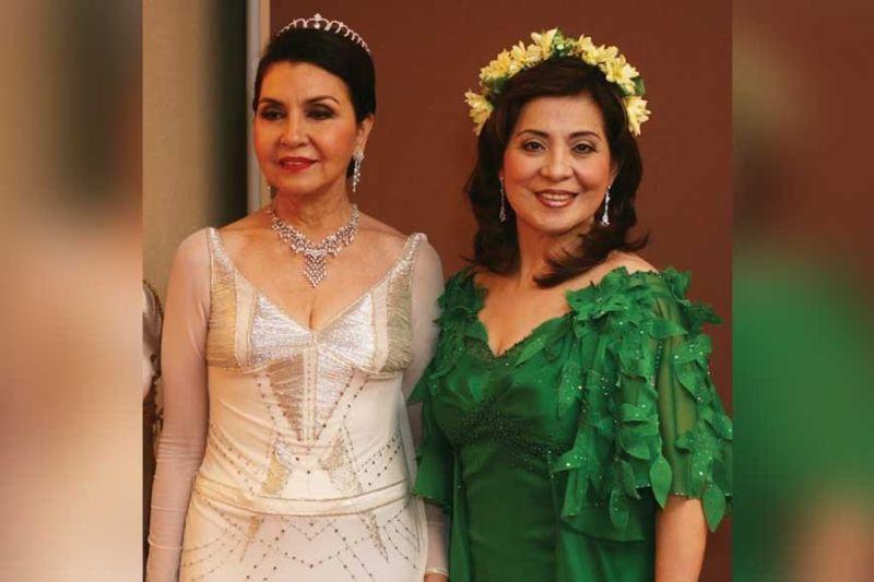 Myth and Biblical characters: Amparito Lhuillier as Venus. Aida Uy as Diane. Chabeng Garcia as Salome