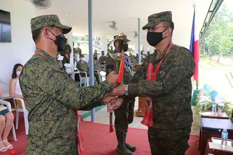 CONTRIBUTED PHOTO. Brigadier General Noel Baluyan assumes as the acting commander of the 3rd Infantry Division after Major General Eric Vinoya retired from the military service effective yesterday, September 6, 2021.  (Contributed photo)