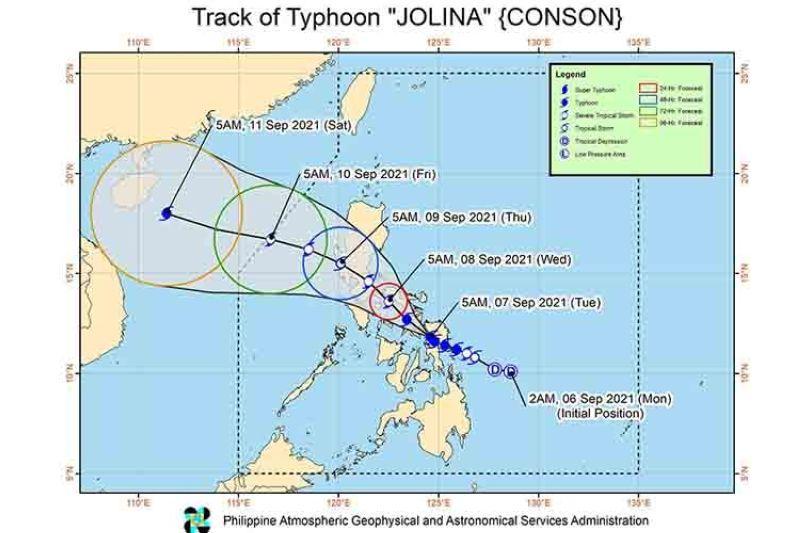 Track of Typhoon Jolina (Source: Pagasa)